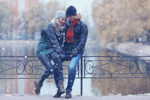 1. Proposal: A romantic stroll in the snow